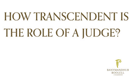 How Transcendent Is The Role Of A Judge?