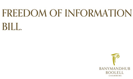 Freedom Of Information Bill