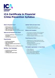 ICA Certificate in FCP syllabus   Temple Group